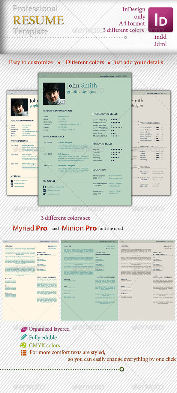 Professional Elegant Template - Resumes Stationery