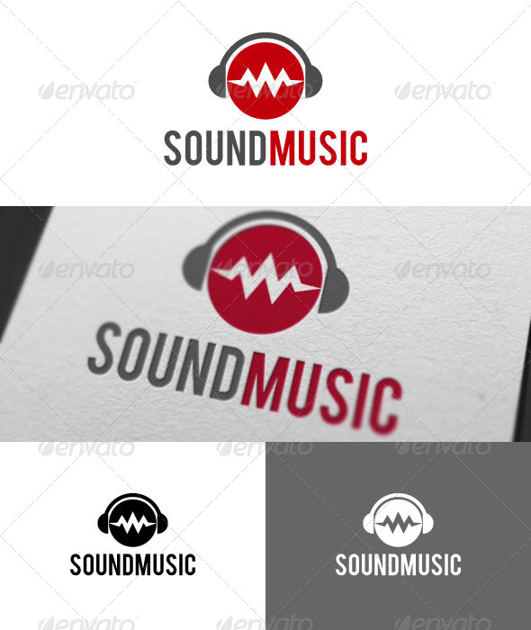 Sound Music Logo Template - Symbols Logo Templates