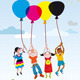 Children Playing with Balloons - GraphicRiver Item for Sale