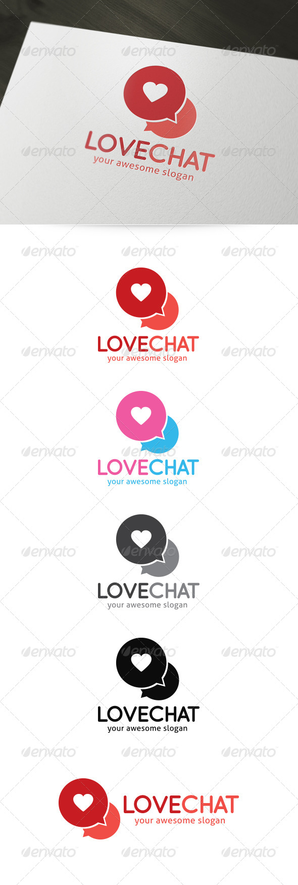 Love Chat Dating Logo - Symbols Logo Templates