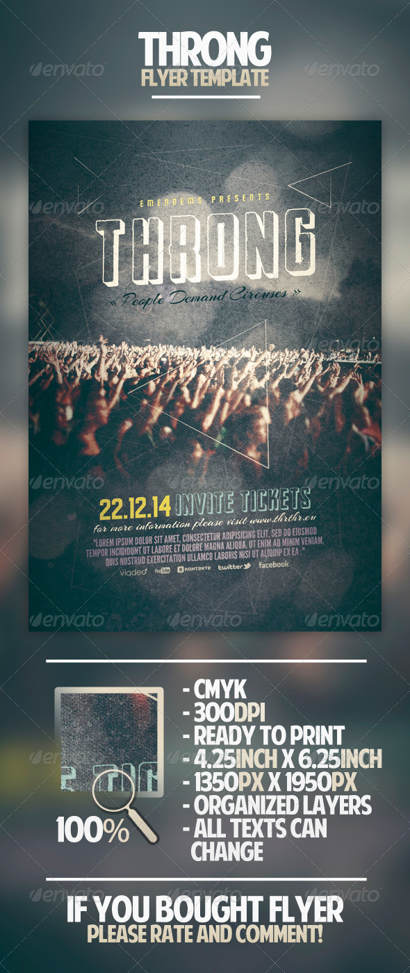 Throng Flyer Template - Miscellaneous Events