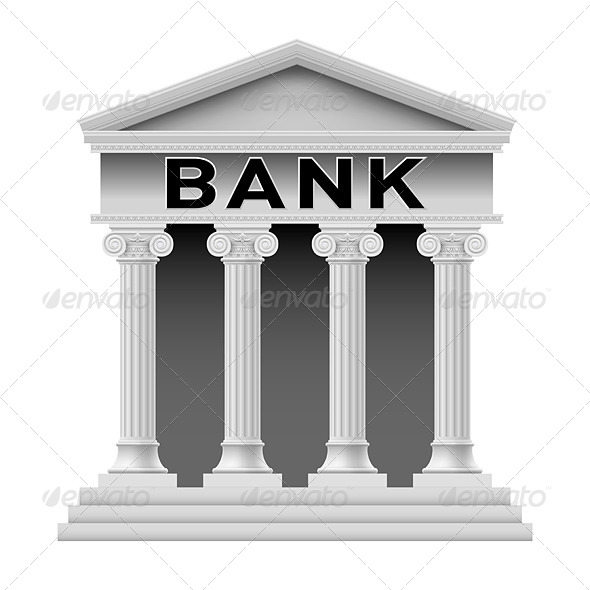Bank Building Symbol - Miscellaneous Vectors