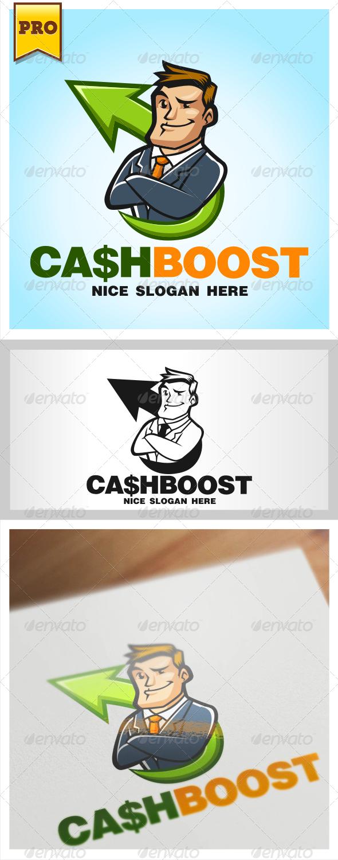 CashBoost Businessman Logo  - Humans Logo Templates