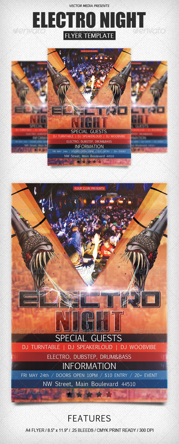 Electro Night - Flyer - Clubs & Parties Events