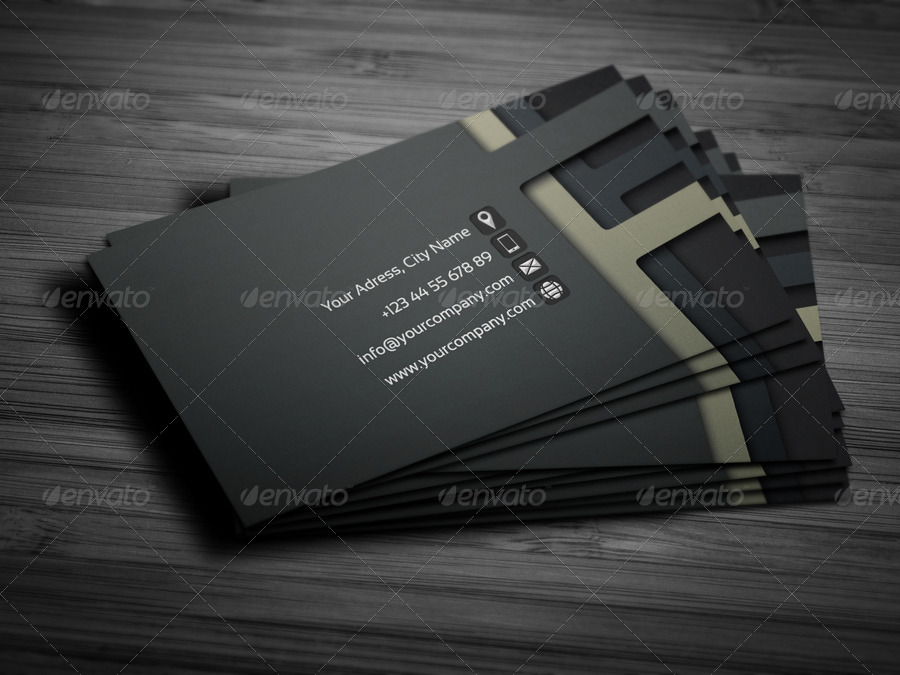 3D Business Card Template 01 by petumDesign GraphicRiver