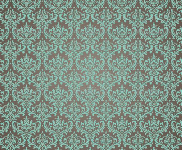 Ornate Damask Seamless Pattern - Patterns Decorative