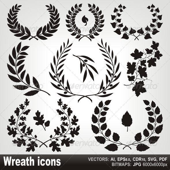 Wreath Icons - Flourishes / Swirls Decorative
