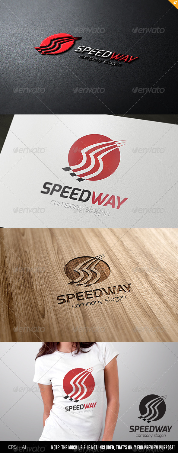 Speed Way Logo - Crests Logo Templates