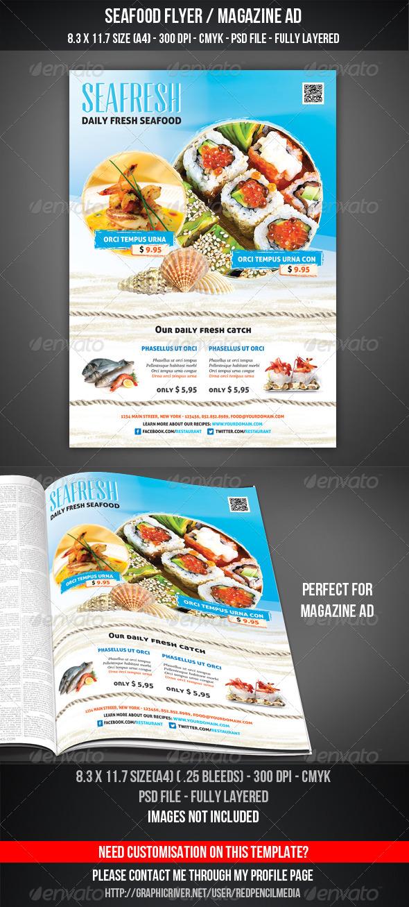 Seafood Flyer / Magazine AD - Restaurant Flyers