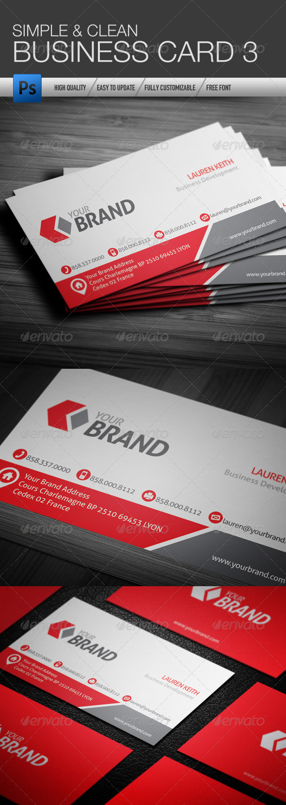 Simple and Clean Business Card 3 - Business Cards Print Templates