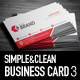 Simple and Clean Business Card 3 - GraphicRiver Item for Sale
