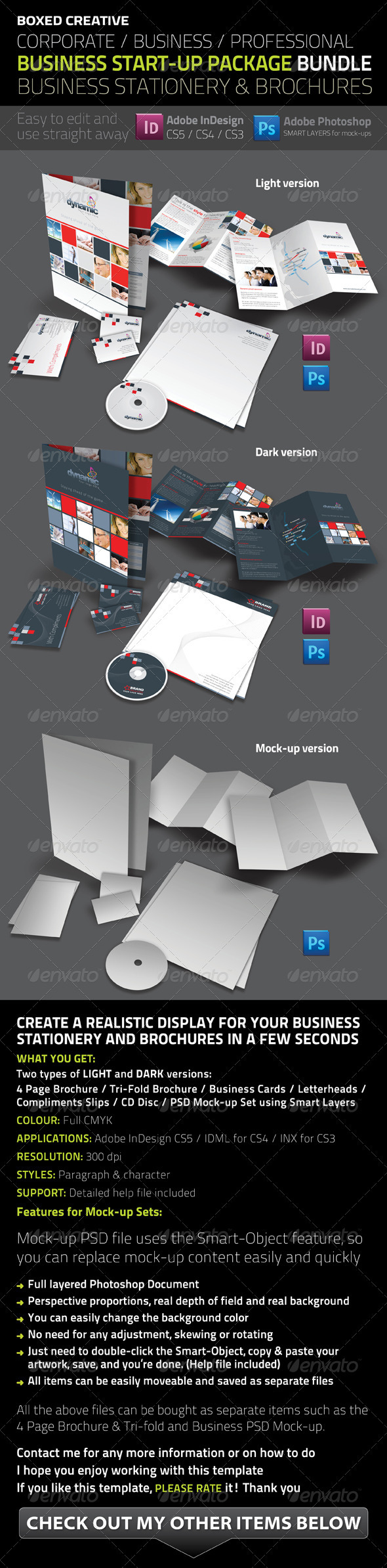 Business Startup Package Bundle - Stationery Print Templates