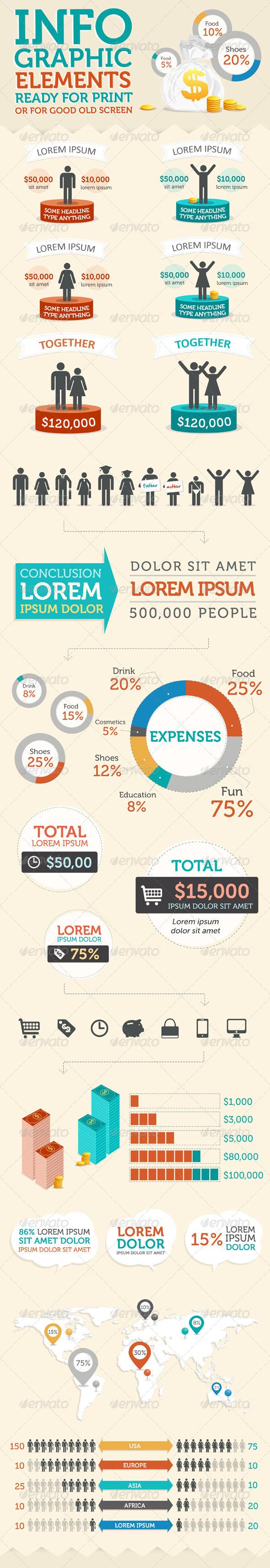 Stylish Infographic Elements Kit - Infographics