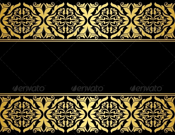 Floral Borders with Gilded Embellishments - Borders Decorative