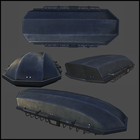 Roof Cargo Carrier - 3DOcean Item for Sale
