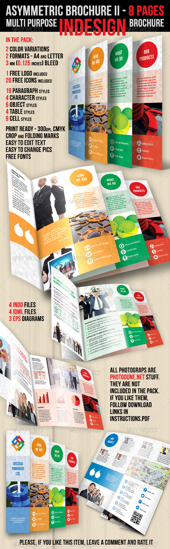 Asymmetric Brochure - II - Brochures Print Templates