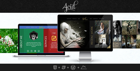 Acid - Unique Horizontal Blog and Portfolio Theme