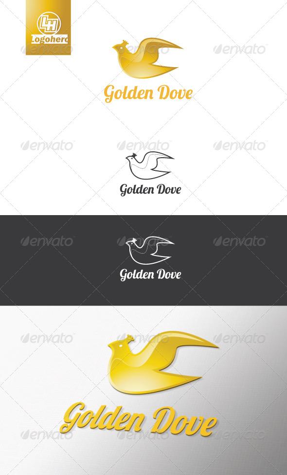 Golden Dove logo Template - Animals Logo Templates