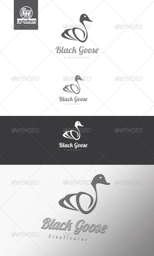 Black Goose Logo Template - Animals Logo Templates
