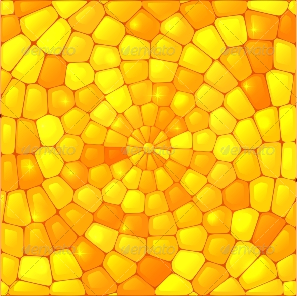 Yellow Abstract Stained Glass Mosaic Background - Miscellaneous Conceptual