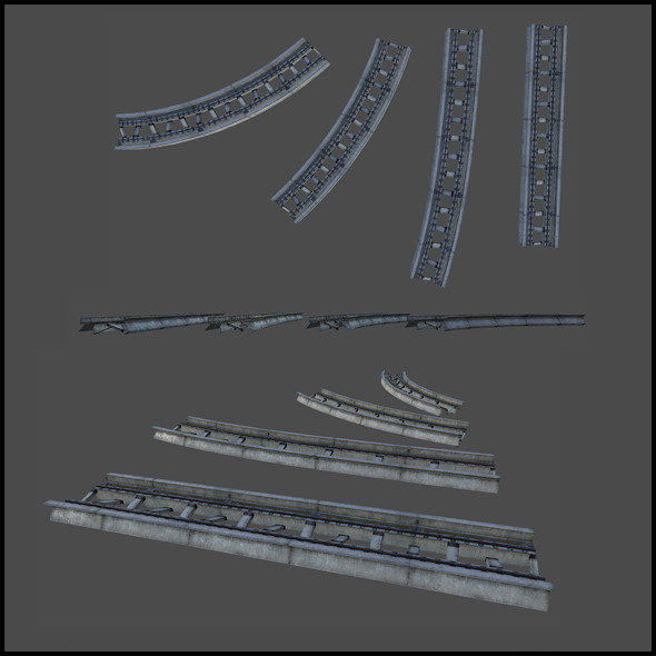 Monorail tracks - 3DOcean Item for Sale