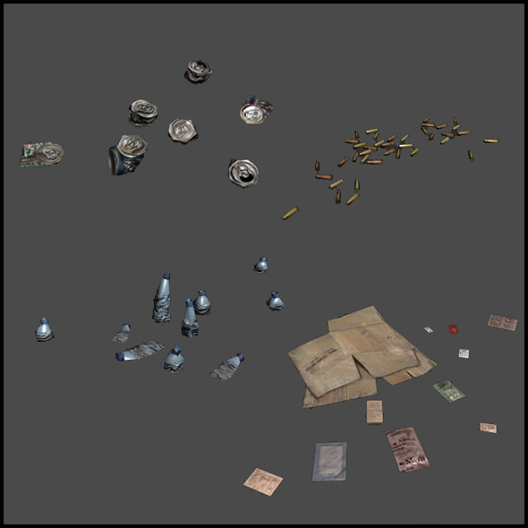 Litter Clusters - 3DOcean Item for Sale