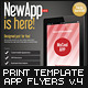 Mobile App Flyers Template v.4 - GraphicRiver Item for Sale