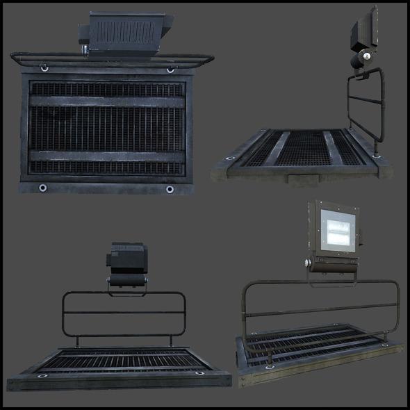 Tileable Gangway - 3DOcean Item for Sale