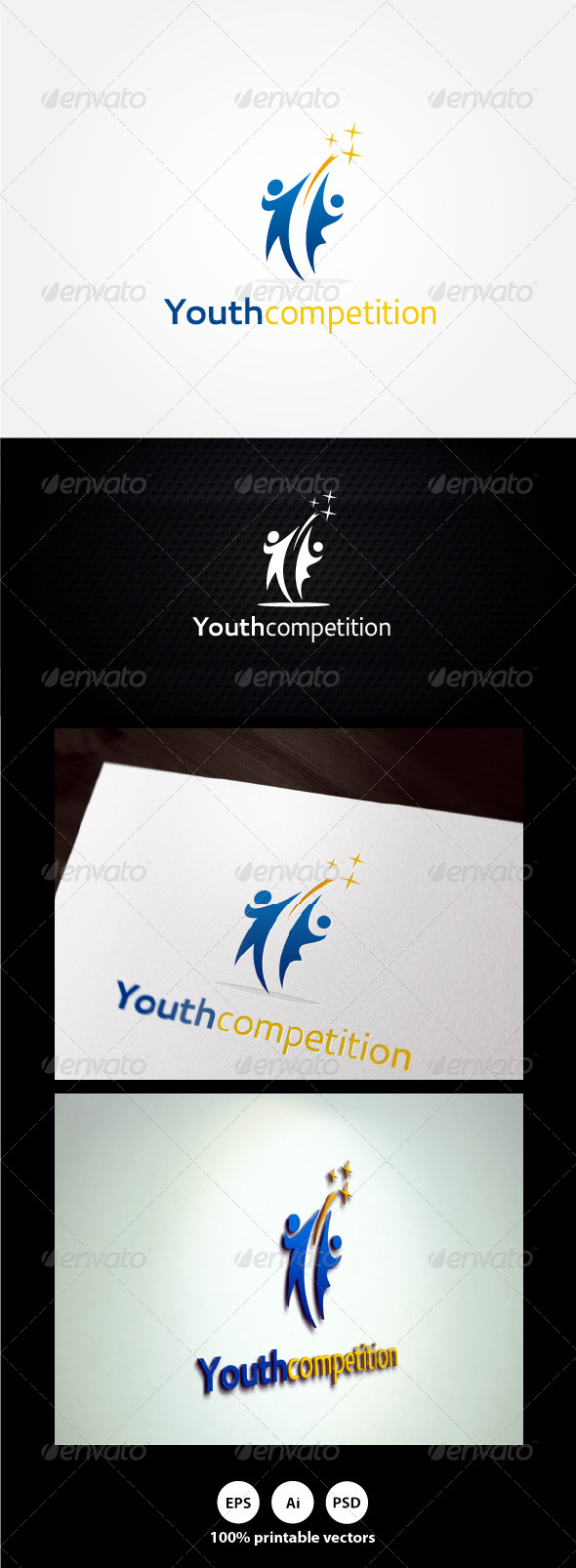 Youth Competition Logo - Humans Logo Templates