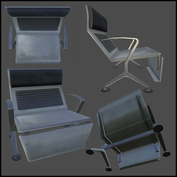 Bus Terminal Seat - 3DOcean Item for Sale