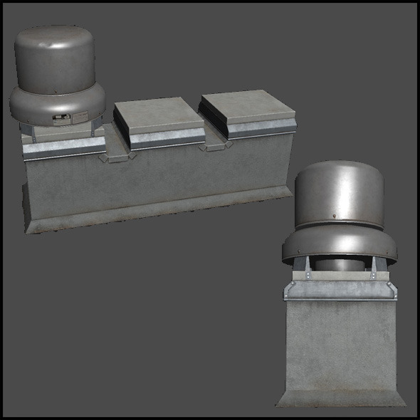 Building Roof Ventilation - 3DOcean Item for Sale