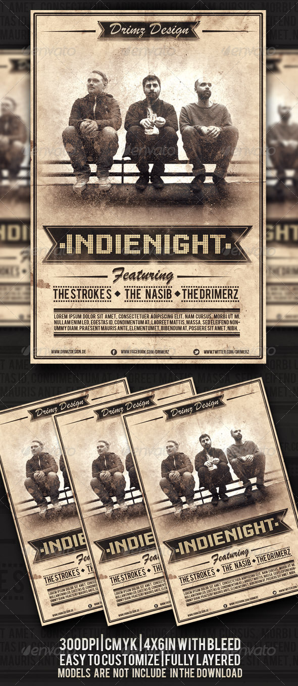 Indie Night Flyer - Events Flyers