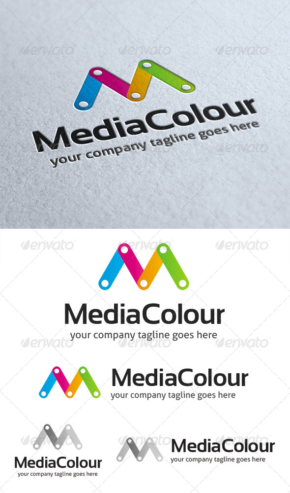 Media Colour Logo - Letters Logo Templates