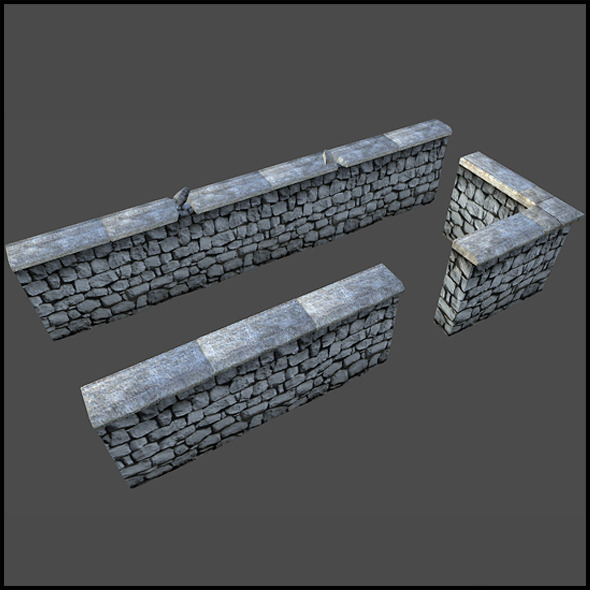 Stone Wall - 3DOcean Item for Sale