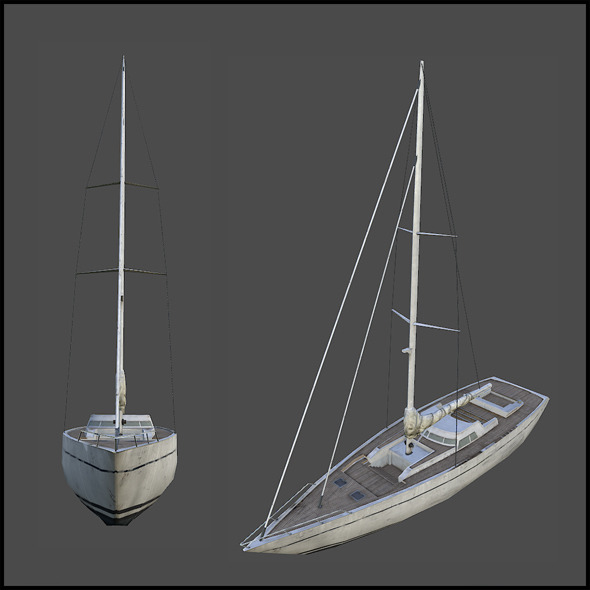 Sail Yacht - 3DOcean Item for Sale