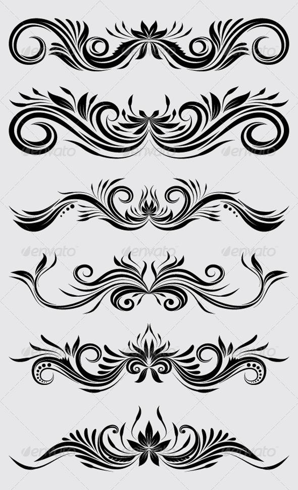 Decorative Ornamental - Flourishes / Swirls Decorative