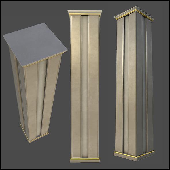 Lobby Classic Column - 3DOcean Item for Sale