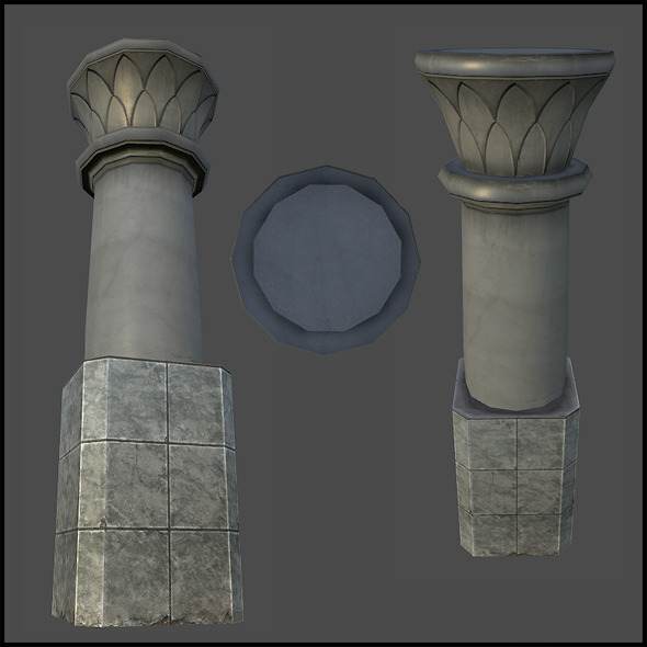 Mall Ornament Column - 3DOcean Item for Sale