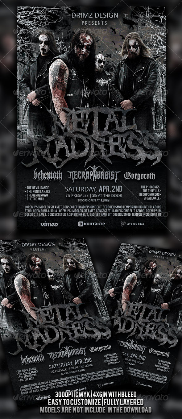 Metal Madness Flyer - Events Flyers