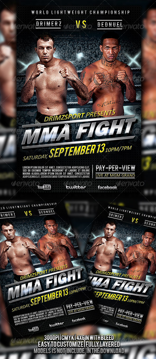 MMA Fight Flyer - Events Flyers