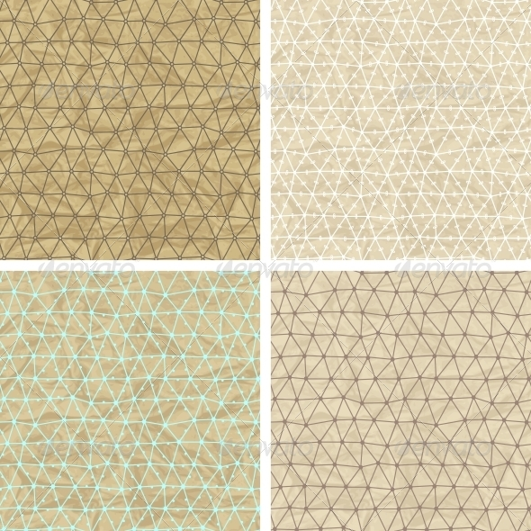 Seamless Lace Patterns on Old Paper Texture. - Patterns Decorative