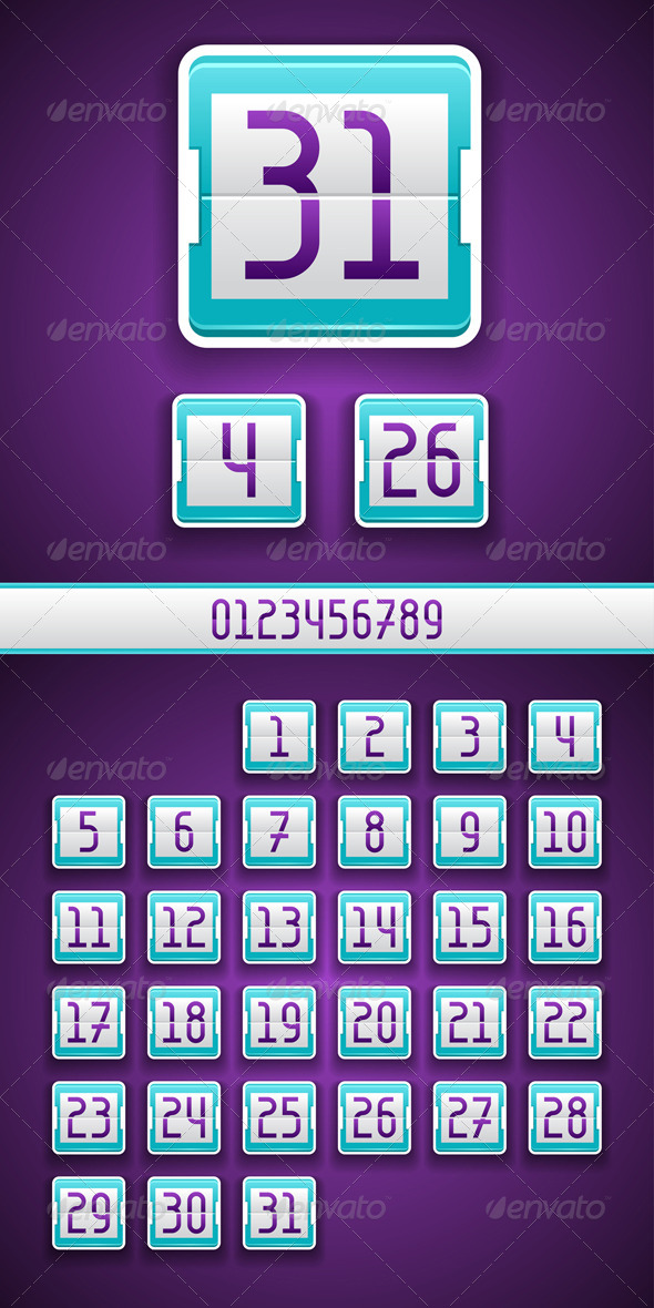 Numbered Scoreboard App Icon. - Web Technology