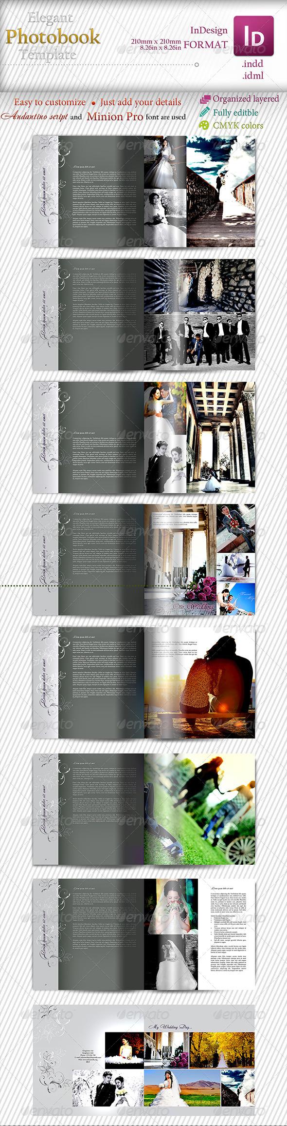 Elegant Photobook Template - Photo Albums Print Templates