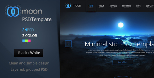 Moon PSD Template - Creative PSD Templates
