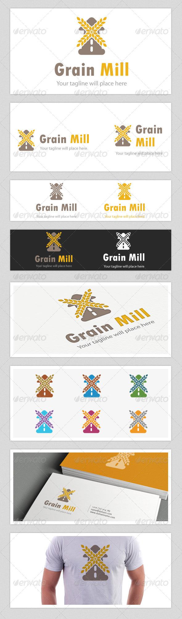Grain Mill Logo - Food Logo Templates
