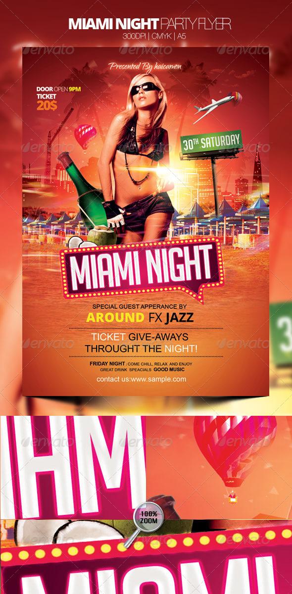 Miami Night Party Flyer
