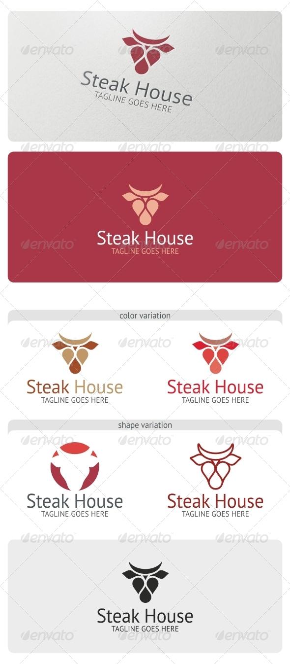 Steak House Logo Template - Food Logo Templates