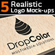 5 Realistic Logo Mock-ups - Set 1 - GraphicRiver Item for Sale