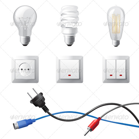 Home Electricity - Objects Vectors