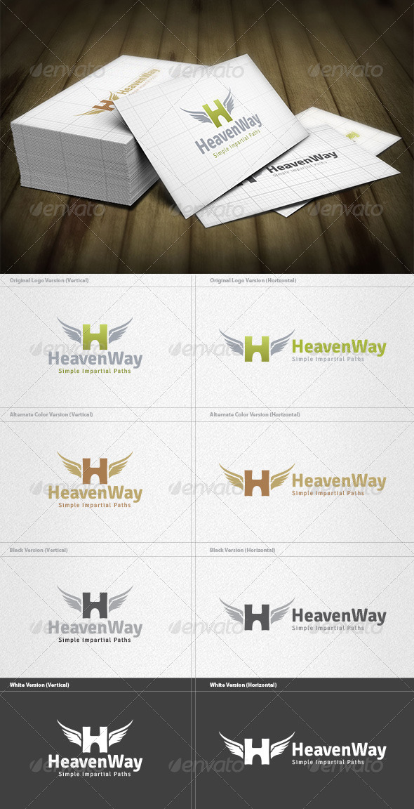 Heaven Way Logo - Letters Logo Templates